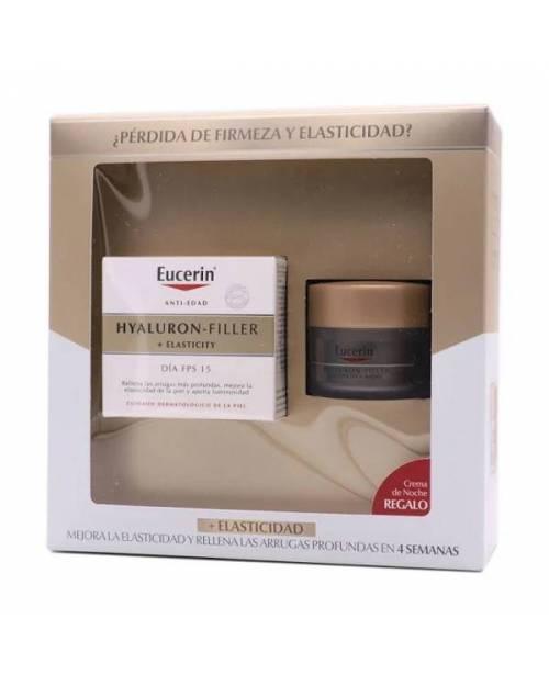 Eucerin Hyaluron Filler Elasticity 50ml + Crema noche 20ml Pack