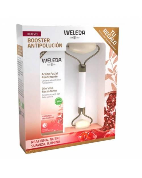 Weleda Aceite Facial Reafirmante de Granada 30ml + Roller  Jade de Regalo