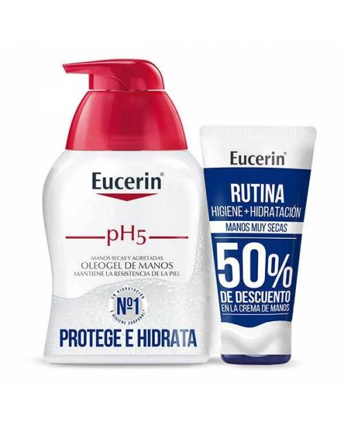 Eucerin Oleogel Manos pH5 250ml + Crema Manos UreaRepair 75ml