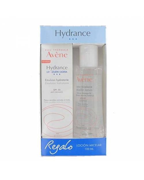 Avene Hydrance ligera UV SPF30 40ml + Agua Micelar 100ml