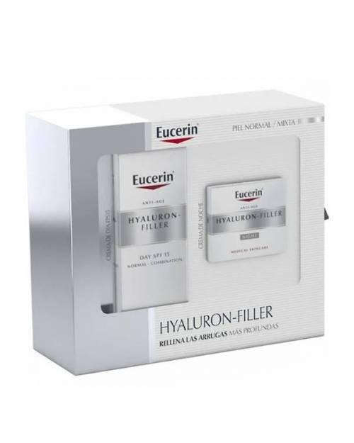 Eucerin Hyaluron Filler Crema Dia 50ml + Crema noche 50ml Piel Normal