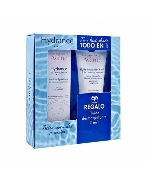 Avene Hydrance UV ligera 40ml + Fluido Desmaquillante 100ml
